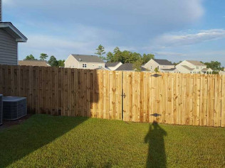 new fence build for house in Georgia