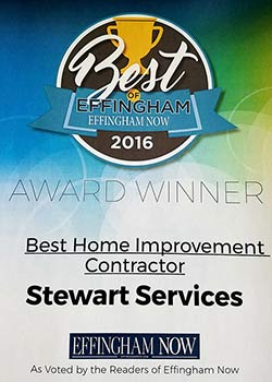 Thank you to everyone who voted for Stewart Services as BEST HOME IMPROVEMENT CONTRACTOR. We are grateful for the support.