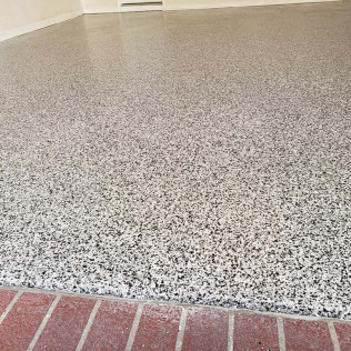 speckled epoxy flooring